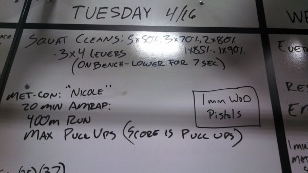 April 16 - Crossfit Board