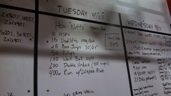 April 23 - Crossfit Board