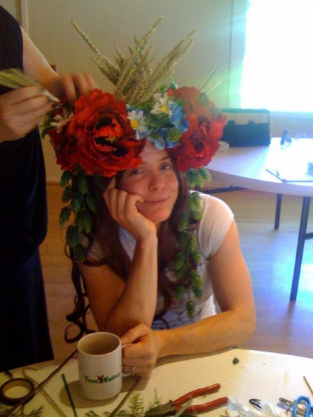 Mucha Headdress Workshop, June 2013 - Cherylyn as Bieres de la Muse