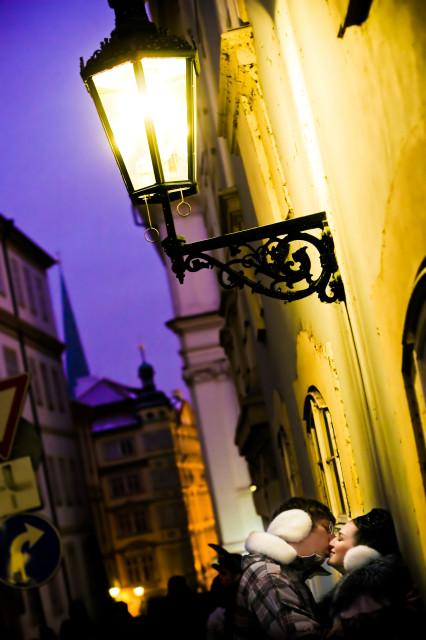 старинная улочка Праги