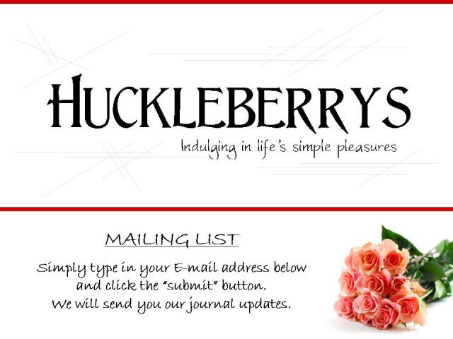 huckleberrys � livejournal