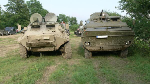 OT-64 и БТР-60ПБ