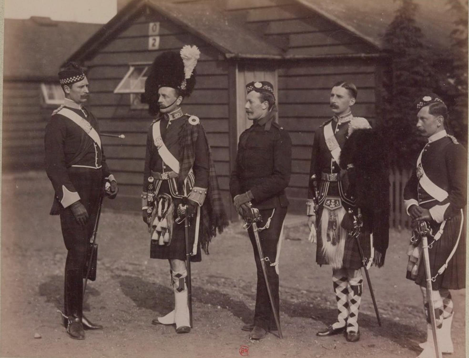 Офицеры горского полка