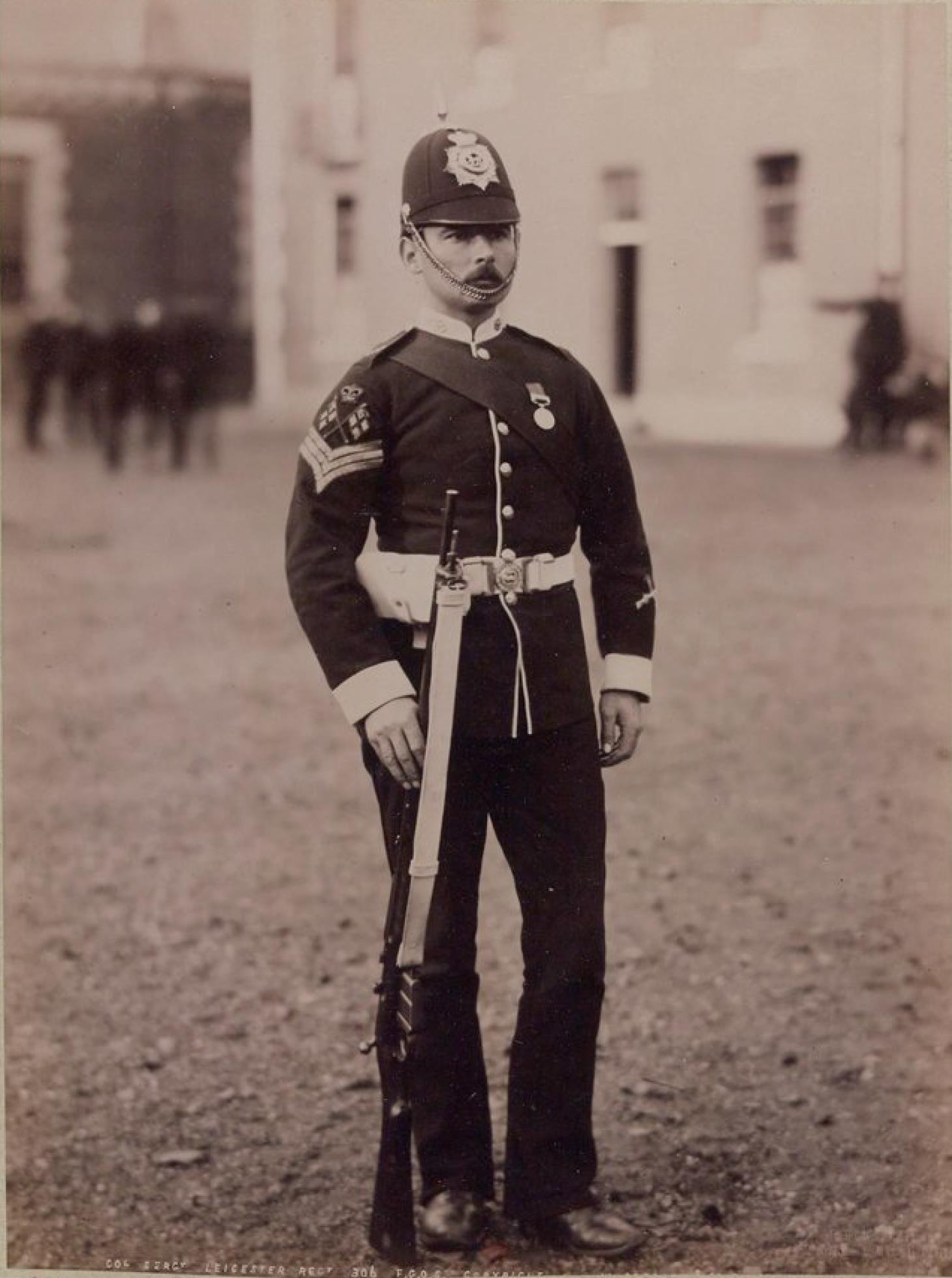 Сержант-знамёнщик. Королевский Линкольнширский полк