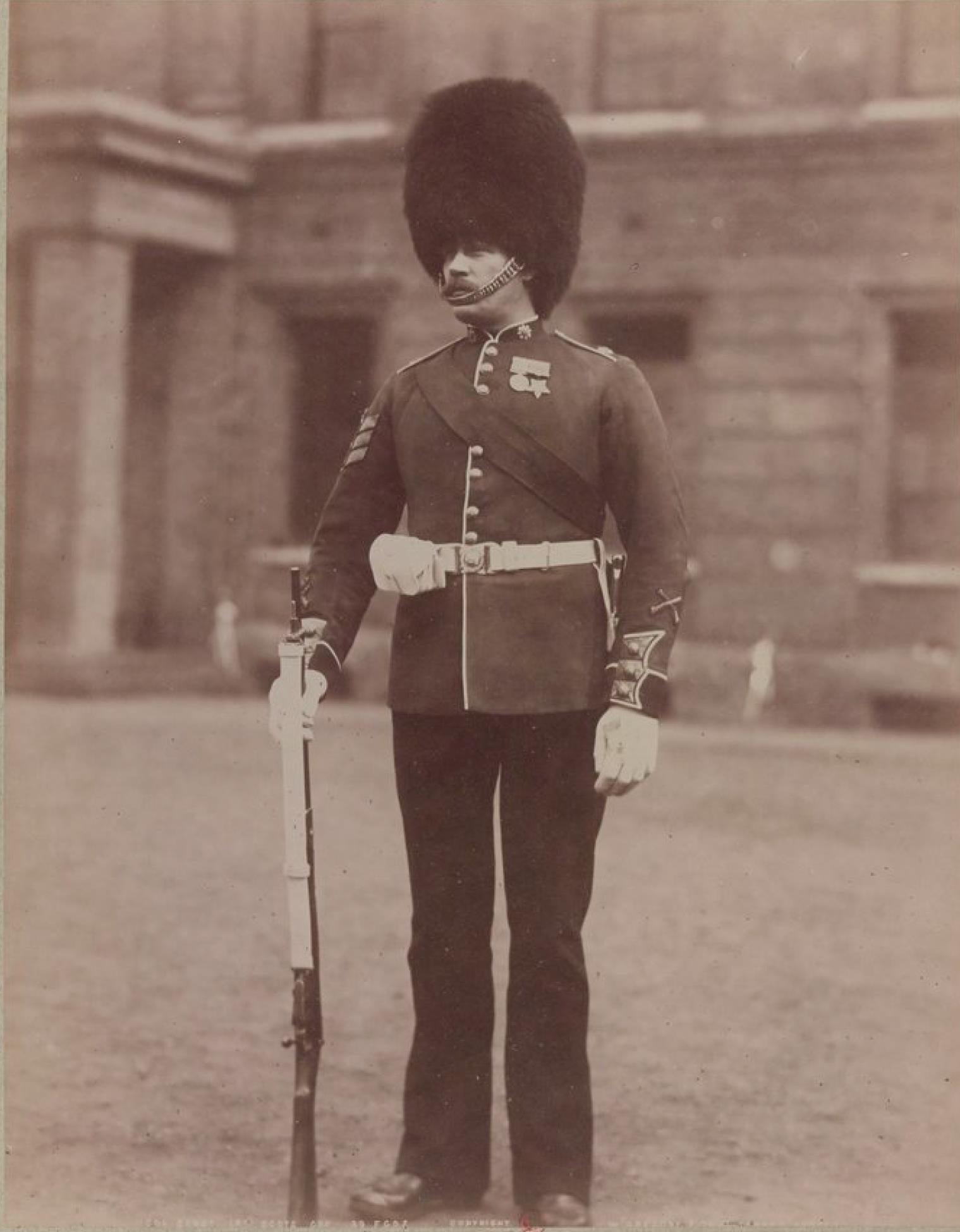 Сержант-знамёнщик. Хайлендерский гвардейский полк