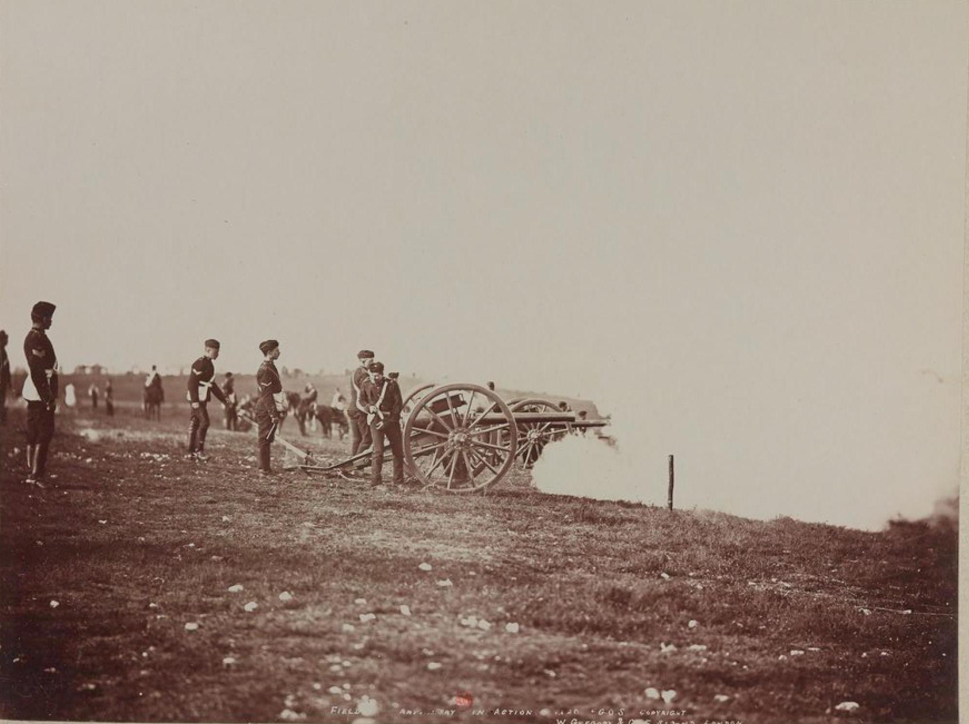Полевая артиллерия в действии
