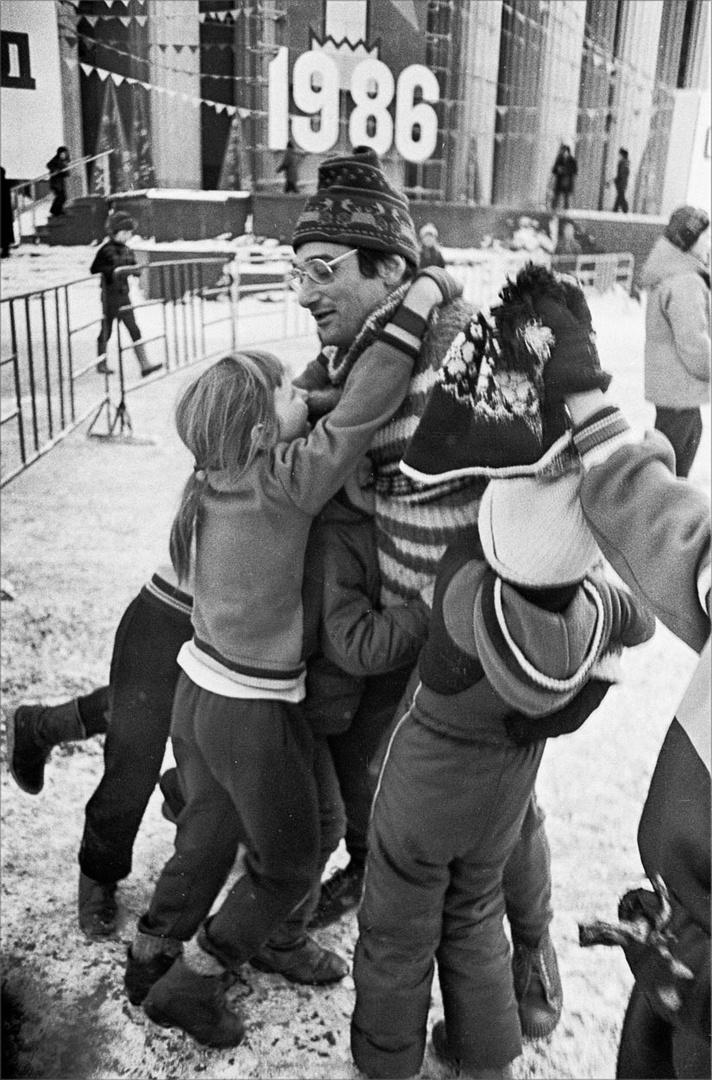 1986. Праздник клуба «Здоровая семья» в Парке Горького. 25 января