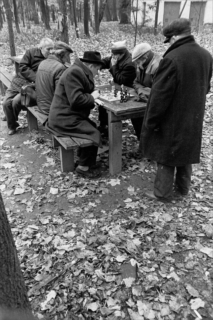1987. Шахматисты в Парке Горького. 21 октября