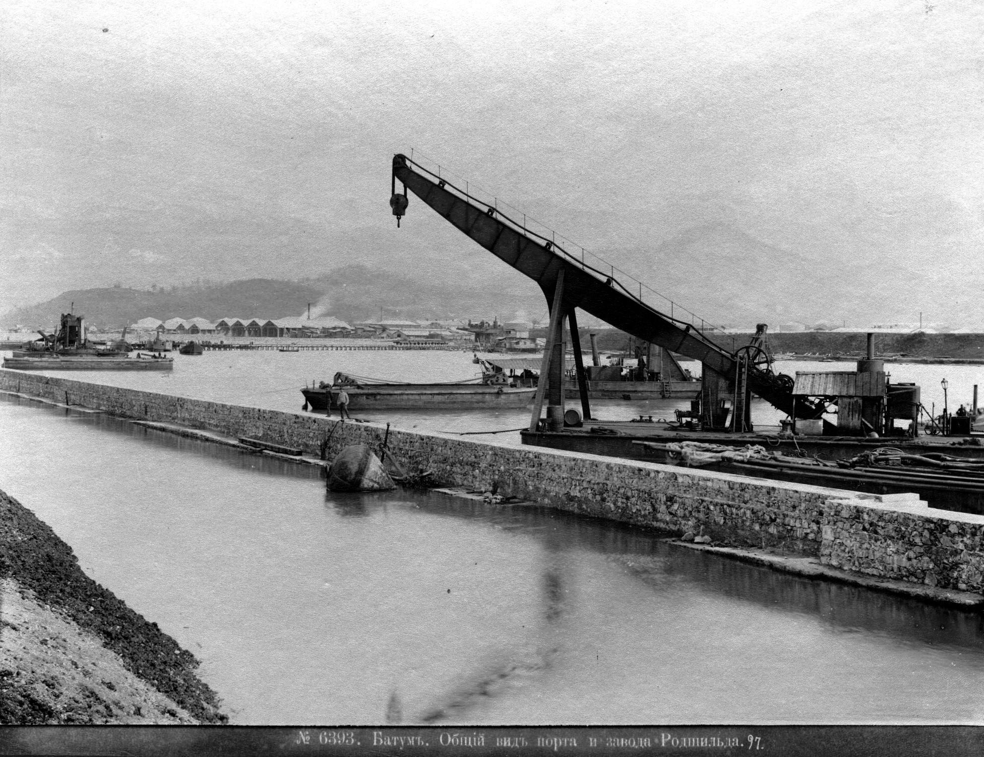 Общий вид порта и завода Ротшильда