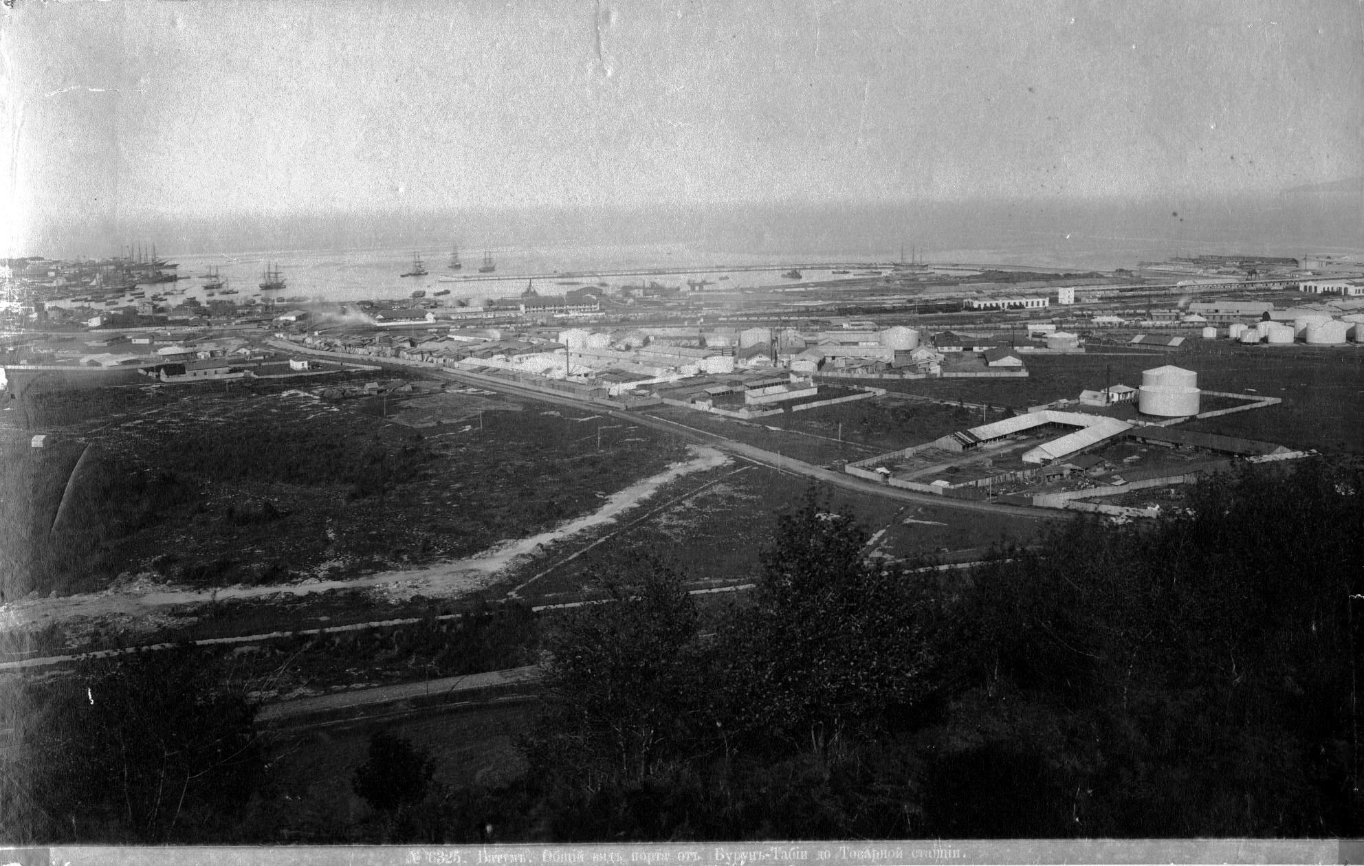 Общий вид порта от Бурун-Таби до Товарной станции