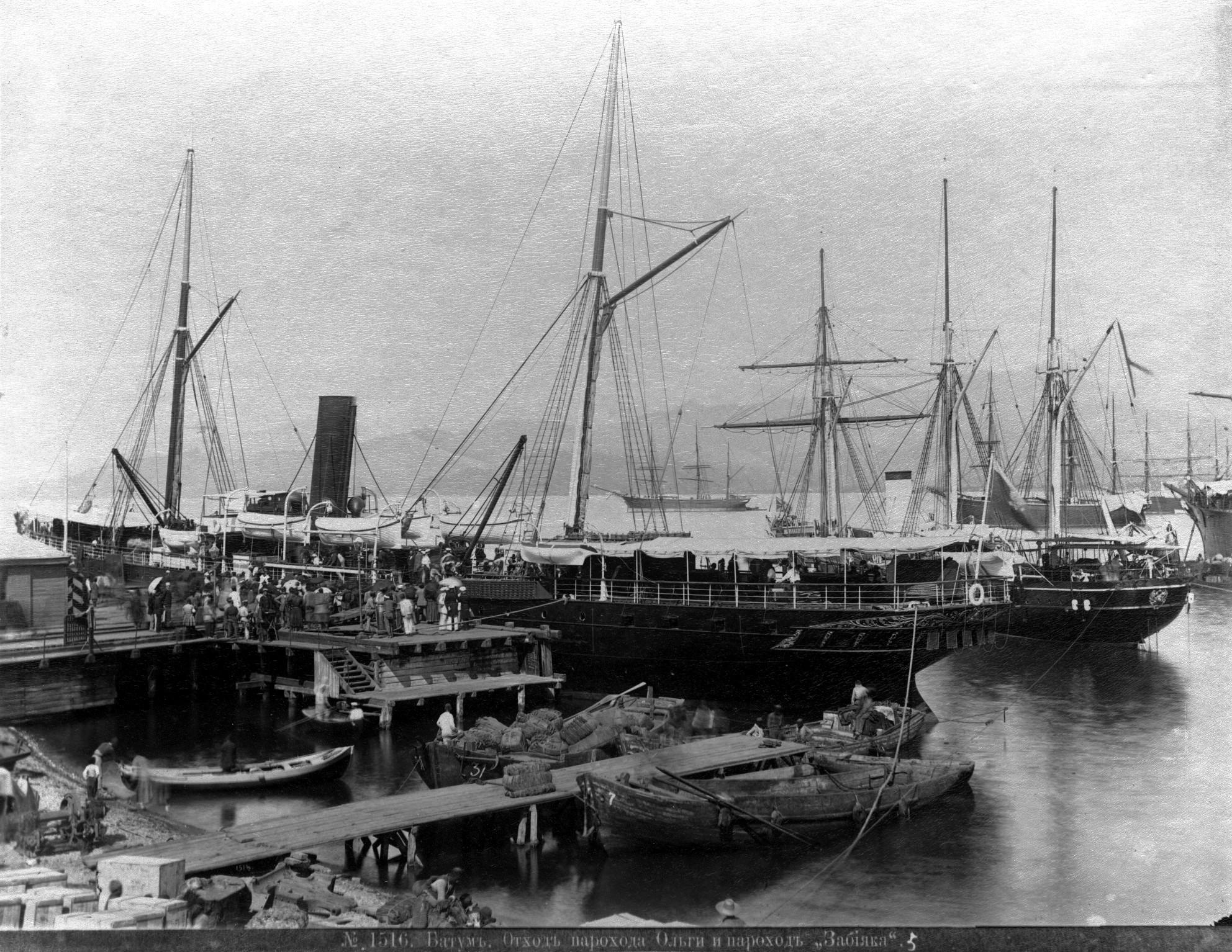 Отход парохода «Ольги» и пароход «Забияка»