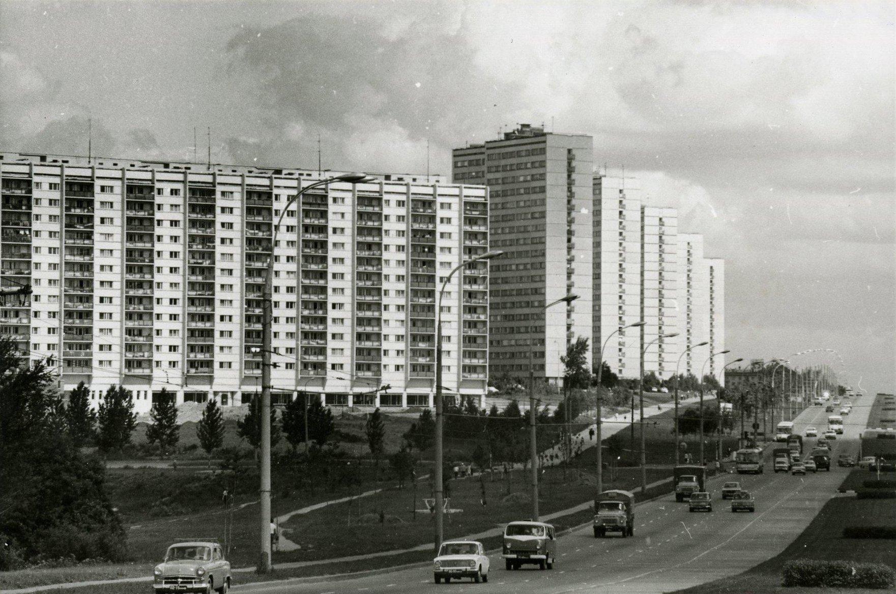 1970-е. Вид на Ленинский проспект.