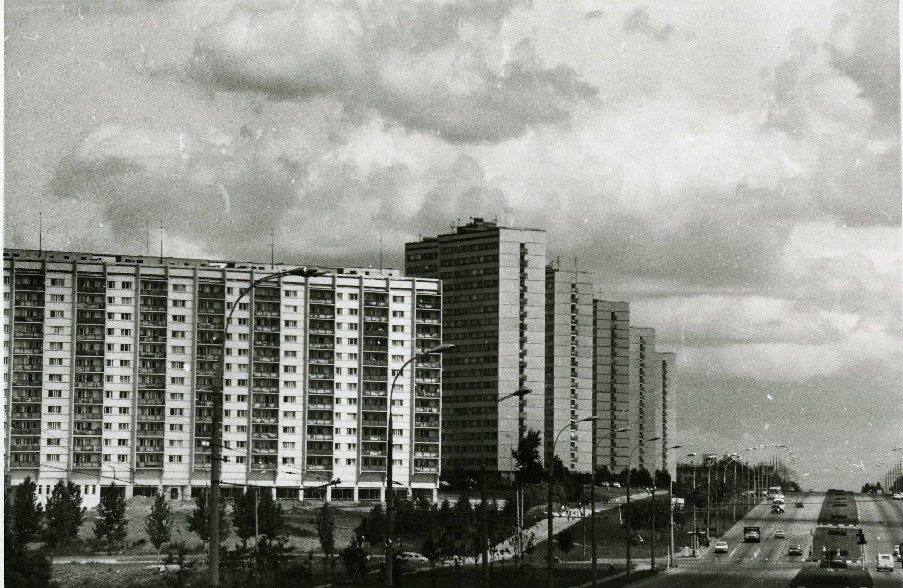 1970-е. Вид на Ленинский проспект.123