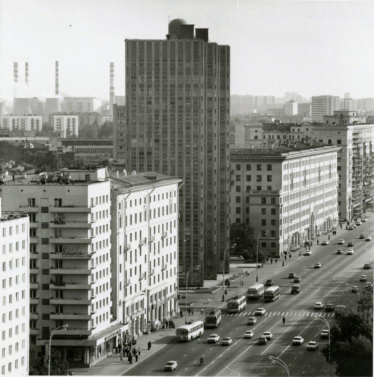 1970-е. Вид на Ленинский проспект