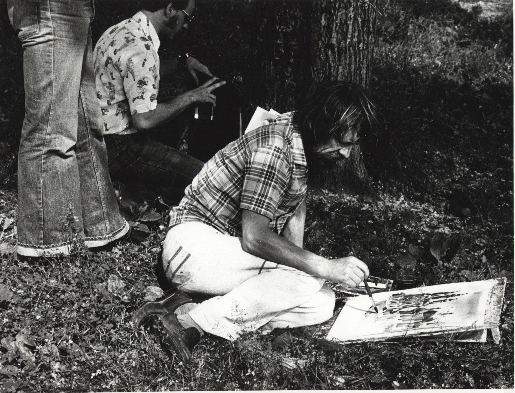 1970-е. Как на Монмартре. Художники в парке