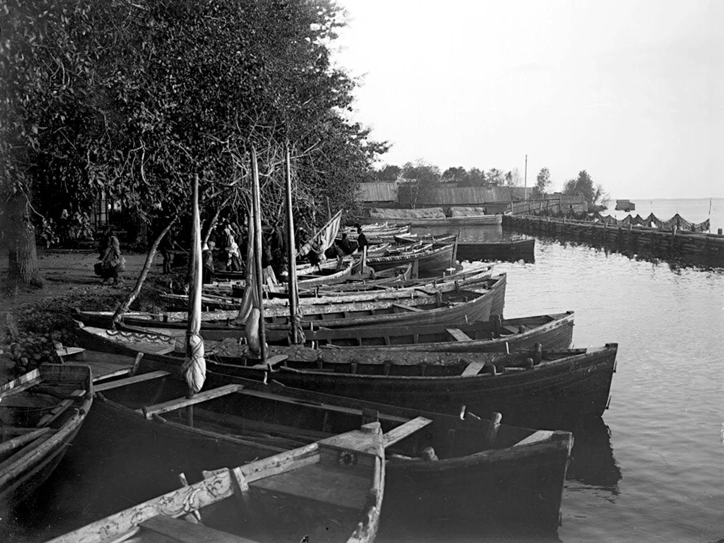 Общий вид набережной и гавани города Осташкова. 1903