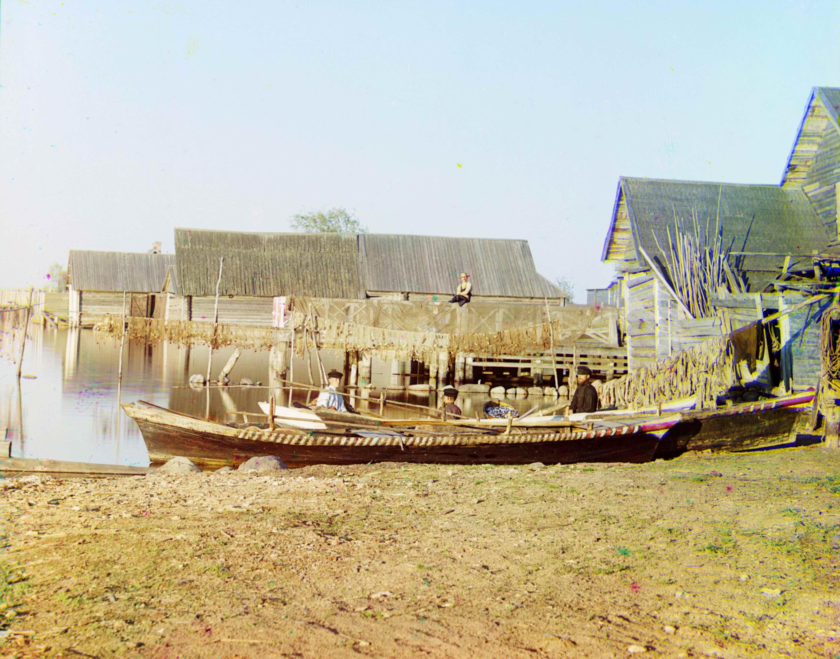 Рыбацкие поселения на озере Селигер.
