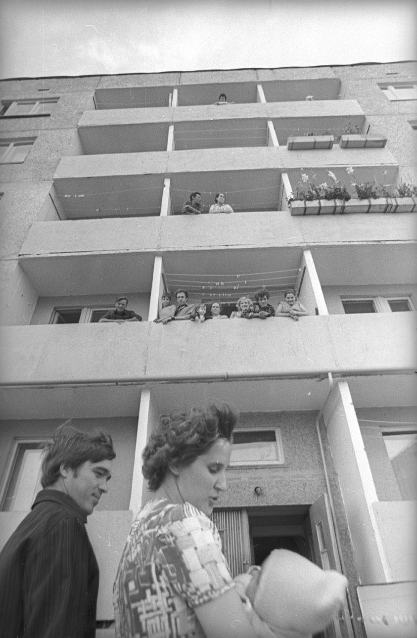 1973. Новый дом на проспекте 9-ой Пятилетки. Чебоксары