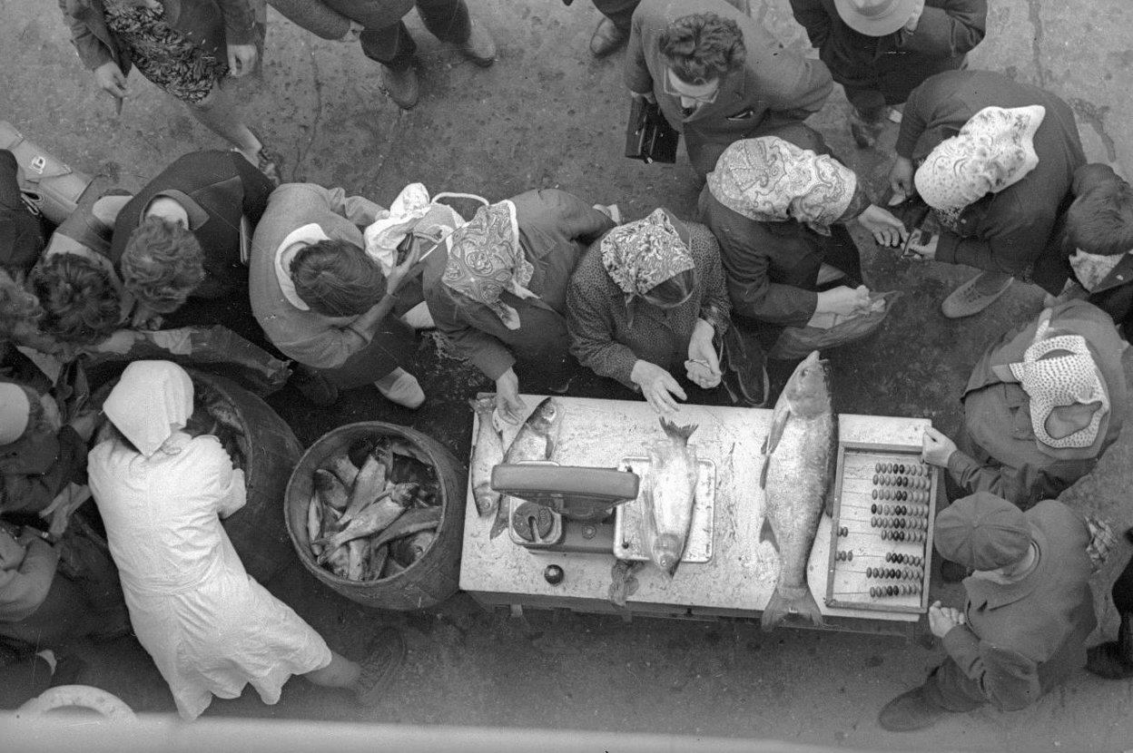 1973. Очередь за рыбой
