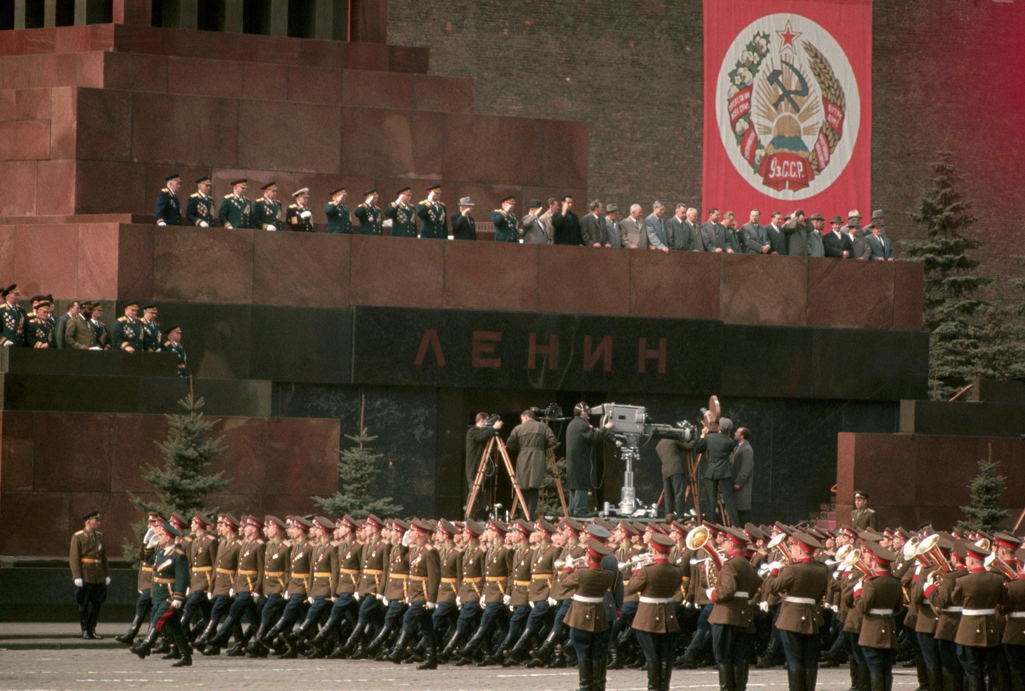1964. Москва. Военный парад на Красной площади 1 мая