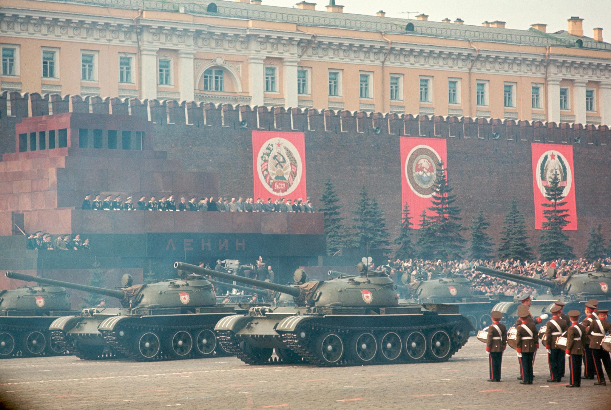 1964. Москва. Парад военной техники на Красной площади 1 мая