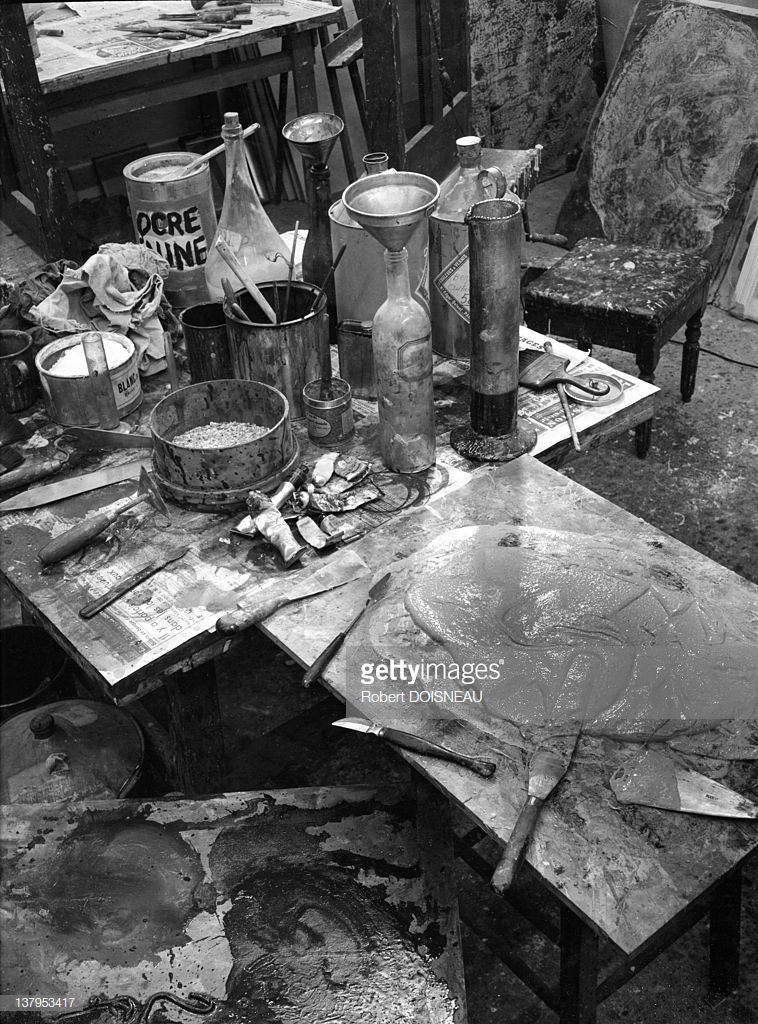 1951. Палитра Жана Дюбюффе в его студии, Рю де Ренн