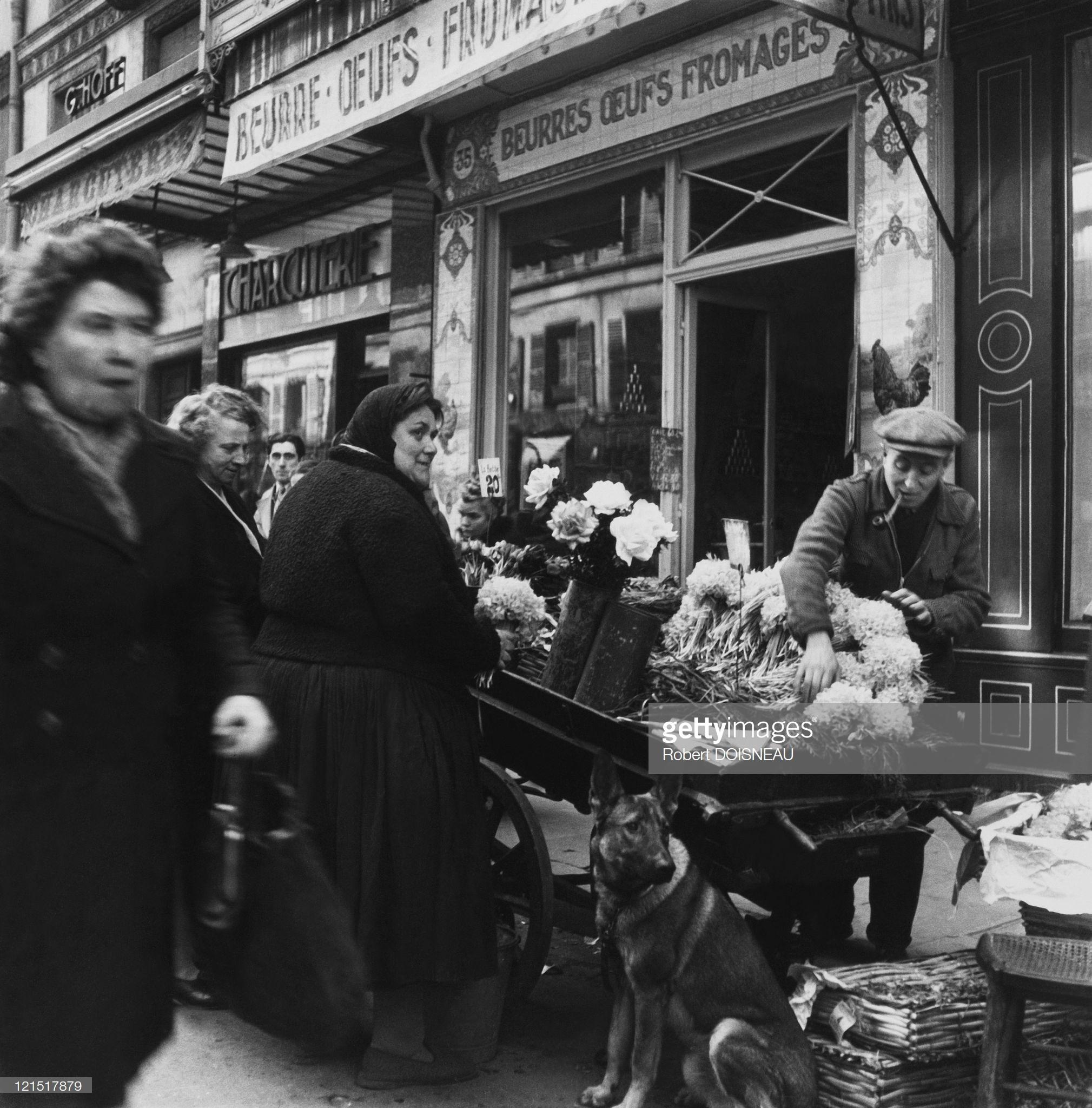 1960. Ле-Аль. Торговля цветами.
