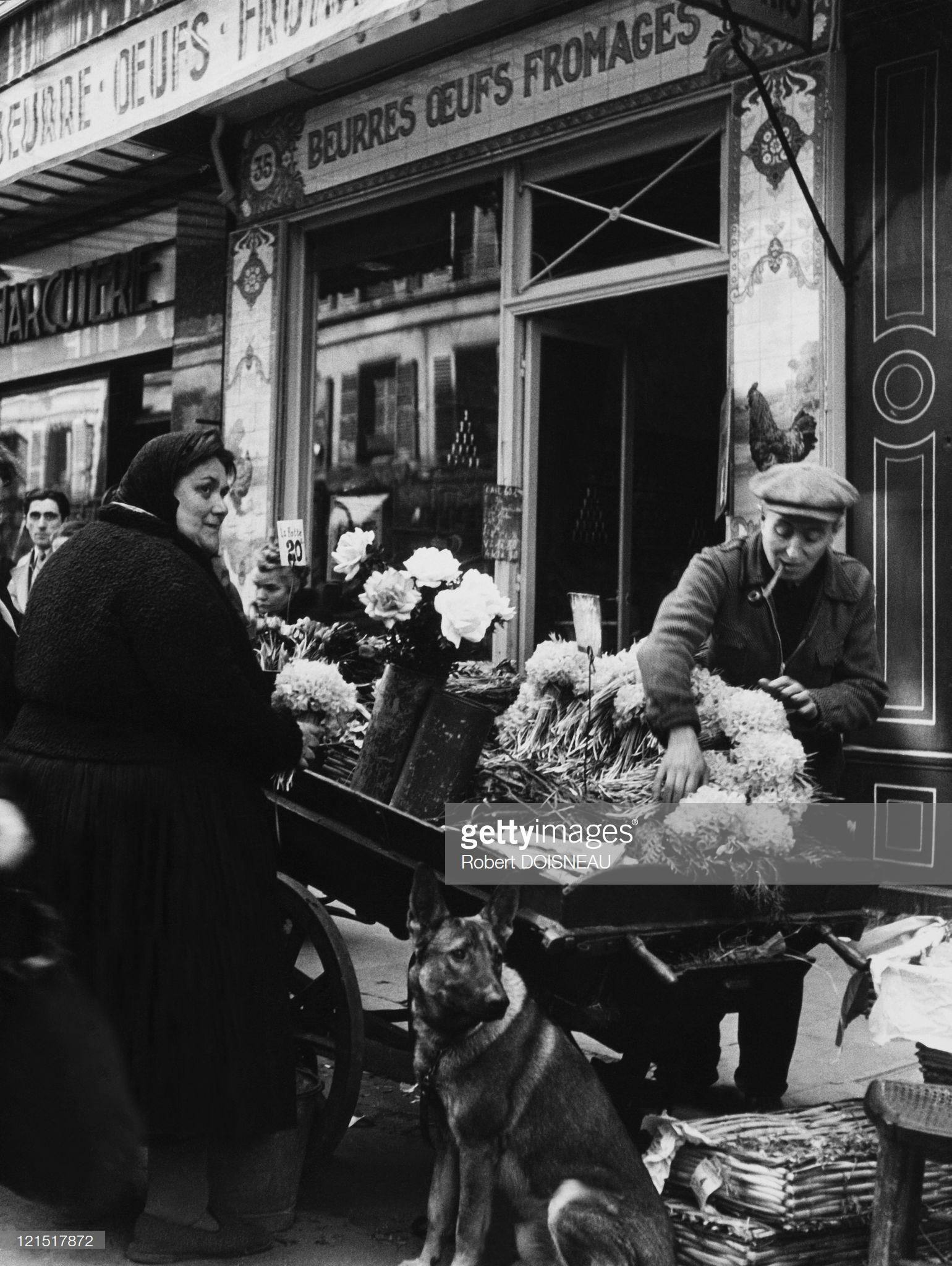 1960. Ле-Аль. Торговля цветами