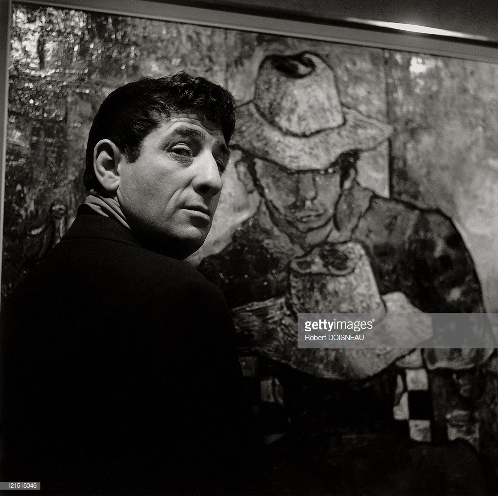 1959. Французский живописец Люсьен Фонтанароза