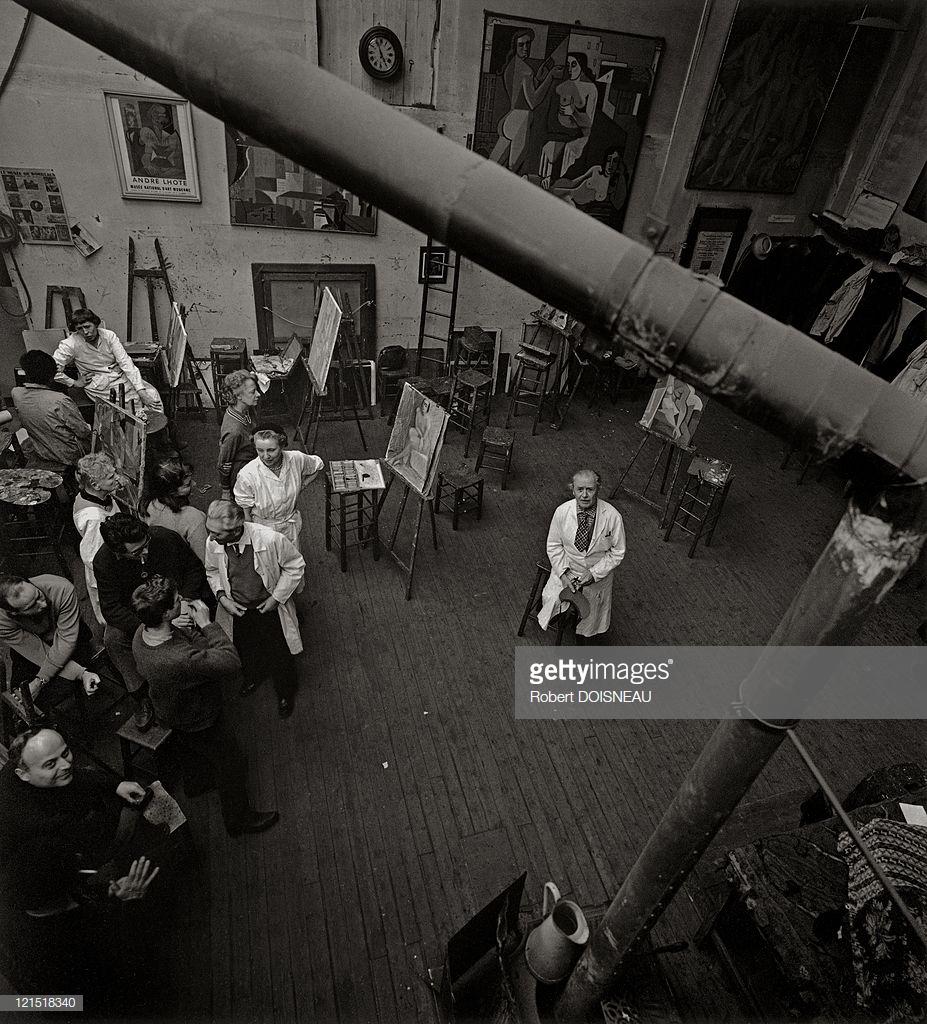 1960. Скульптор Андре Лот в Академии