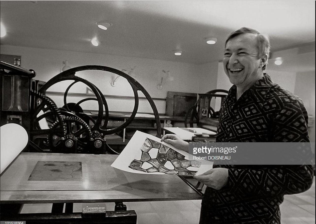 1975. Американский художник Джаспер Джонс в студии Альдо Кроммелинка.