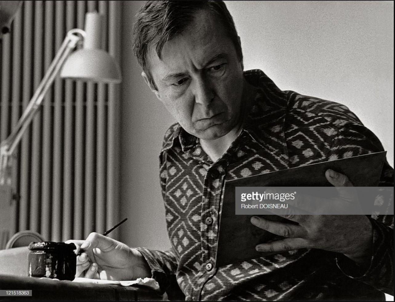 1975. Американский художник Джаспер Джонс в студии Альдо Кроммелинка