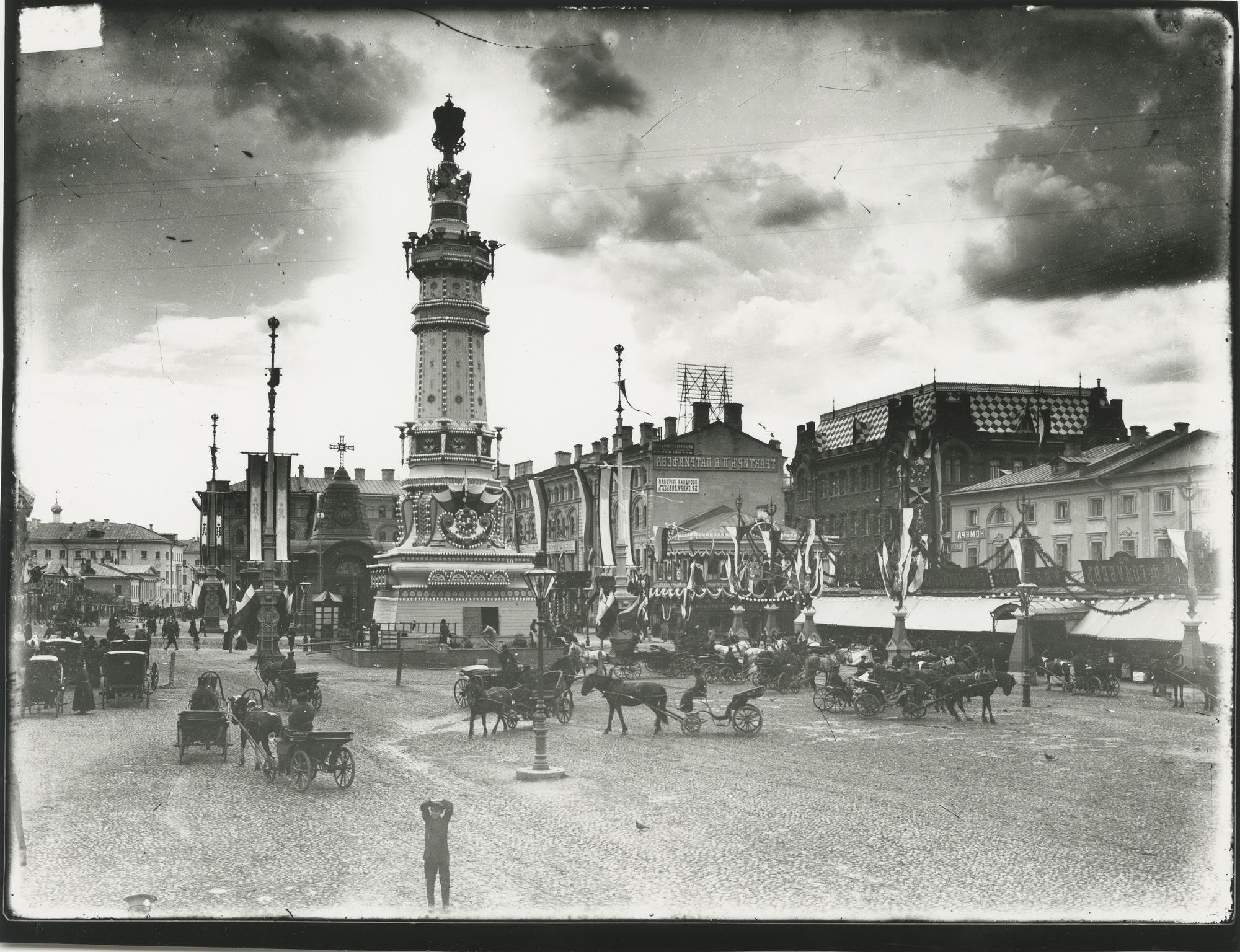 1896. Иллюминация Москвы по случаю коронования императора Николая II