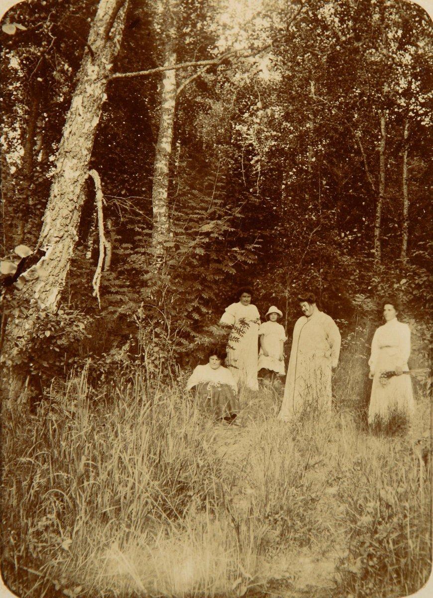 1900-е. Окрестности Москвы. Группа дам на лесной поляне