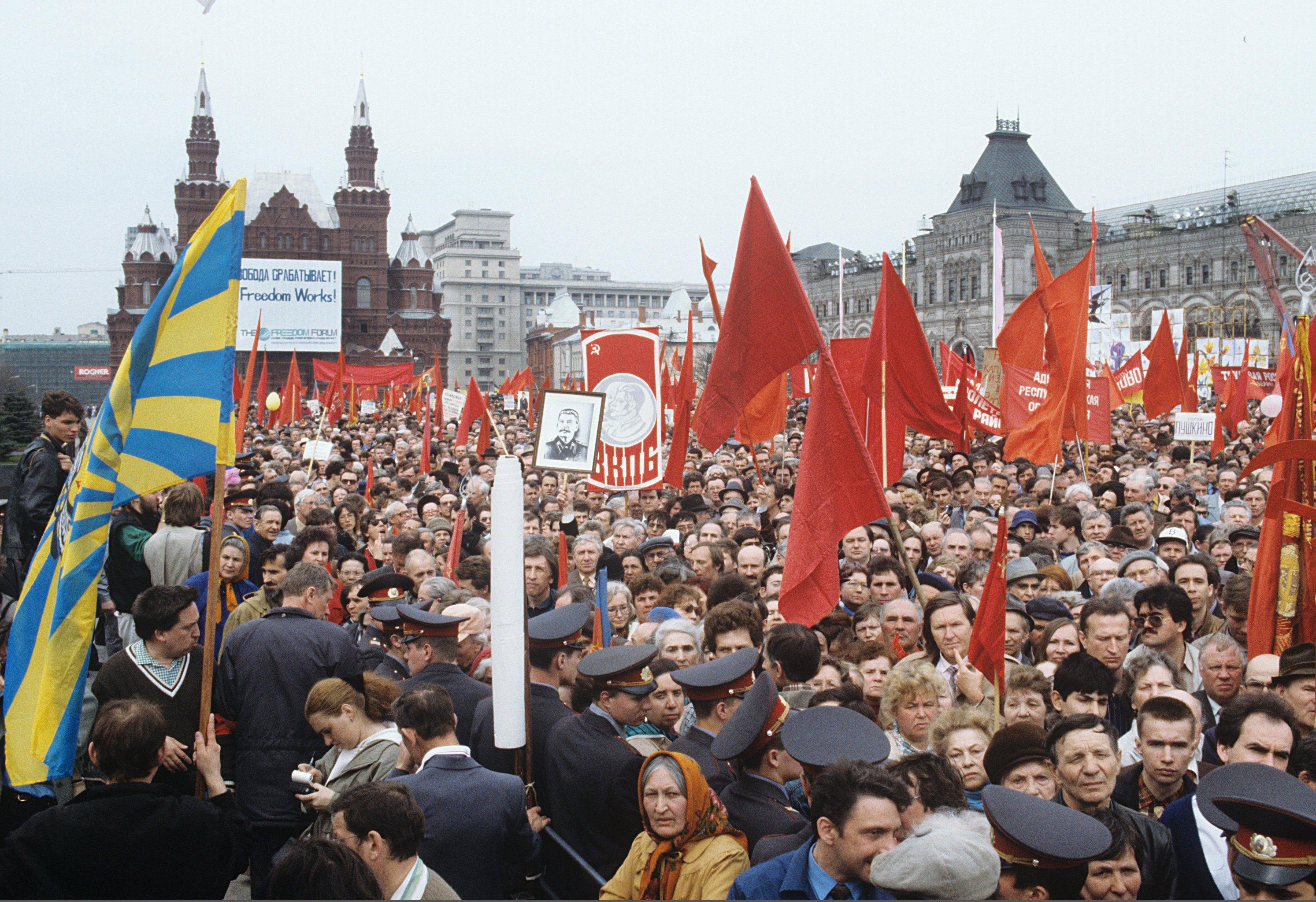 Красная площадь. Митинг-шествие. «Свобода срабатывает!»