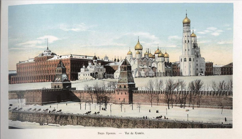 Вид Кремля зимой