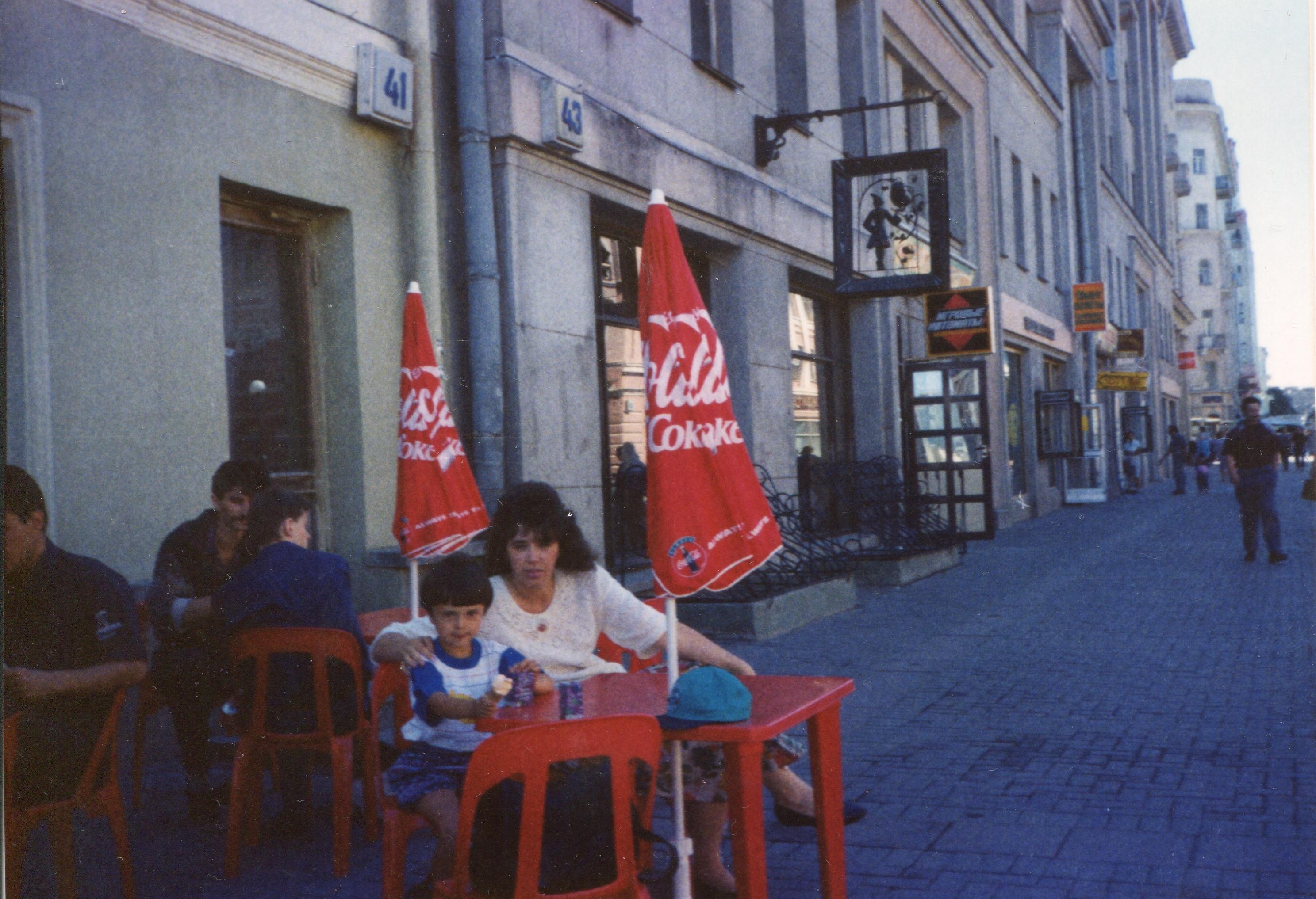 В кафе на старом Арбате