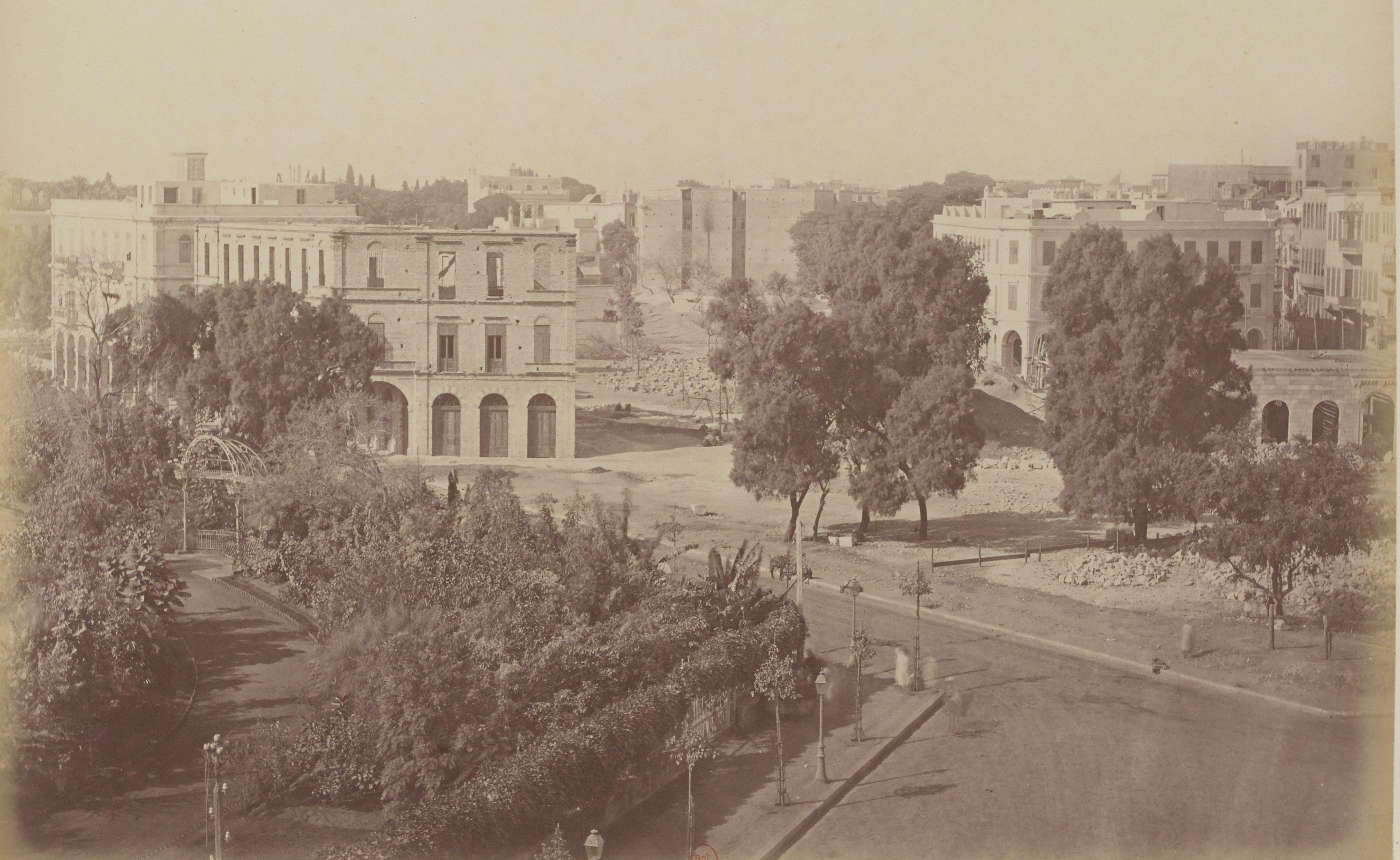 13. Угол сада Эзбекия и площадь Хазиндара