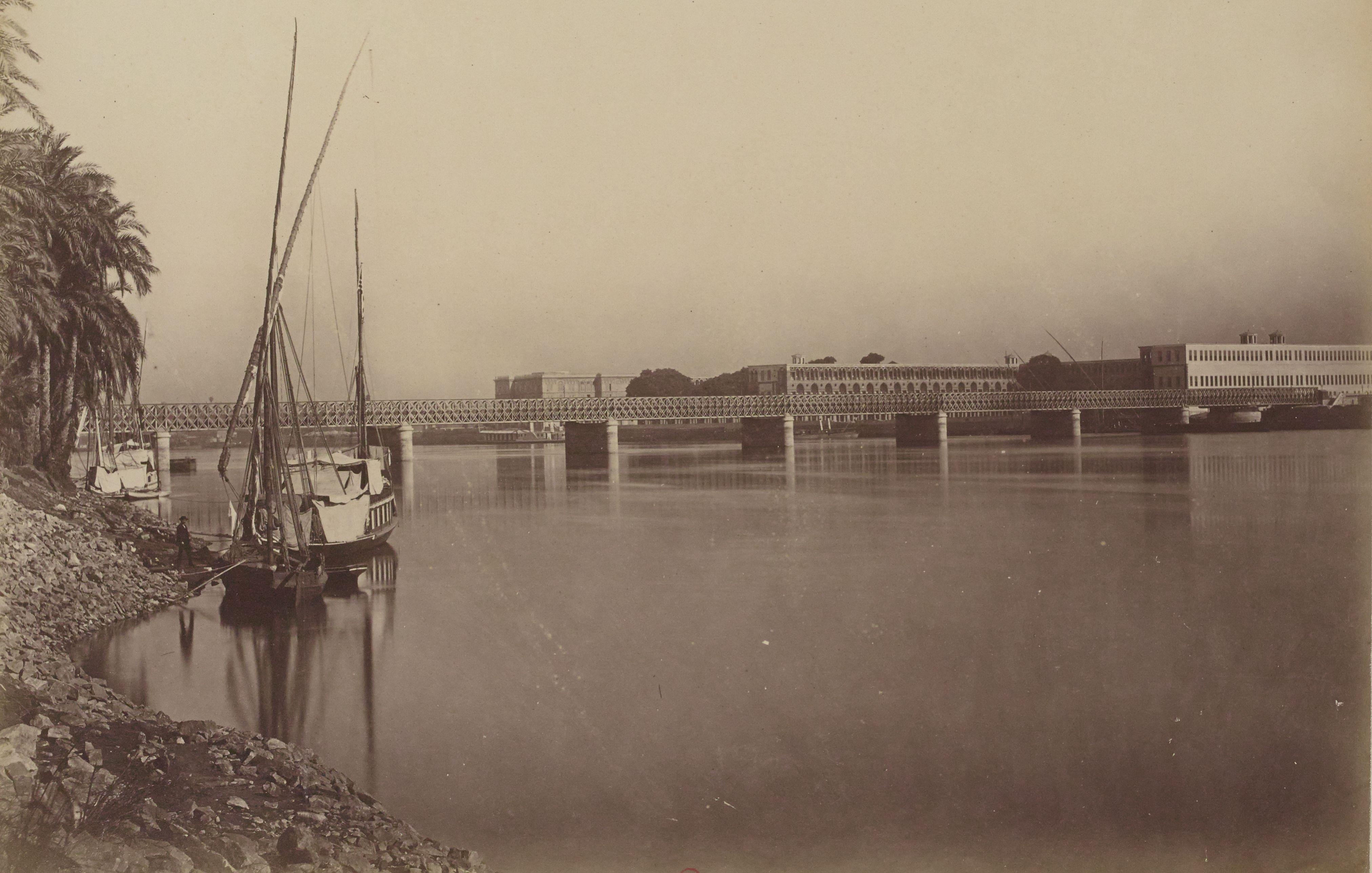 43. Мост Каср-эль-Нил и казармы на острове Газира