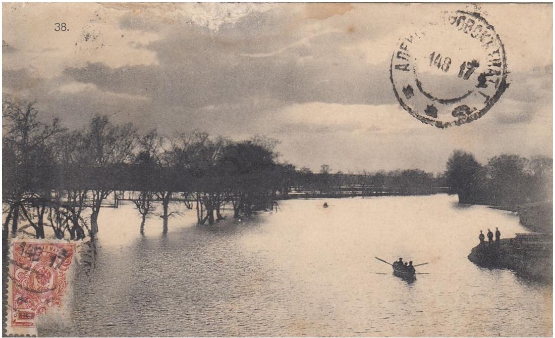 Река Московка во время разлива