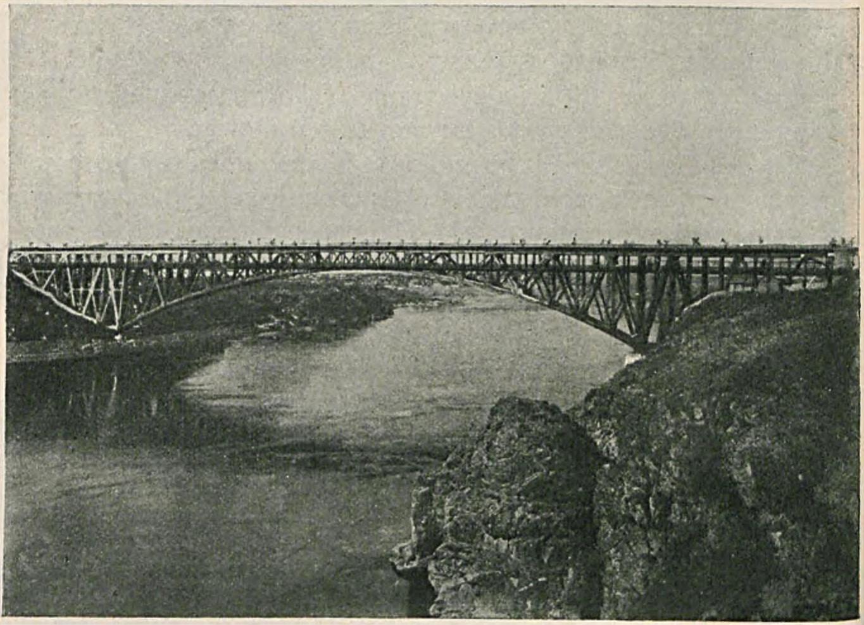 Окрестности Александровска. Мост у Кичкаса через реку Днепр,