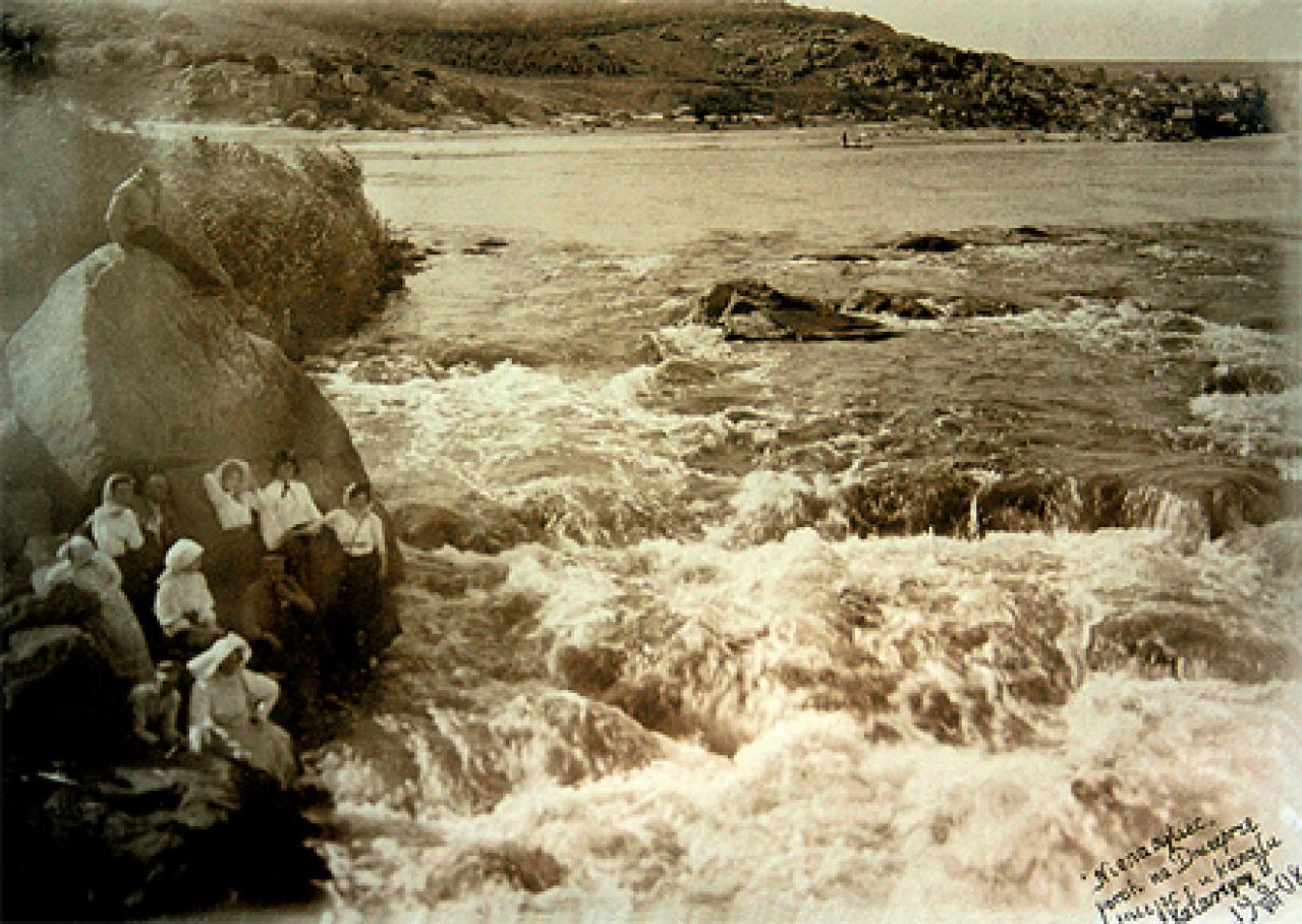 Окрестности Александровска. Порог Ненасытец у канала Екатерины второй, 1908