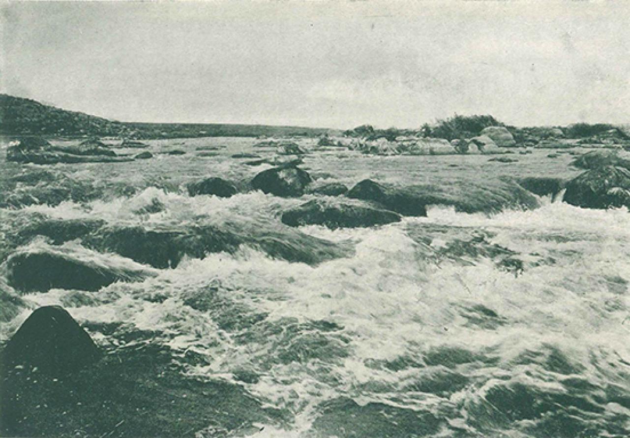 Окрестности Александровска. Порог Ненасытец. 1912