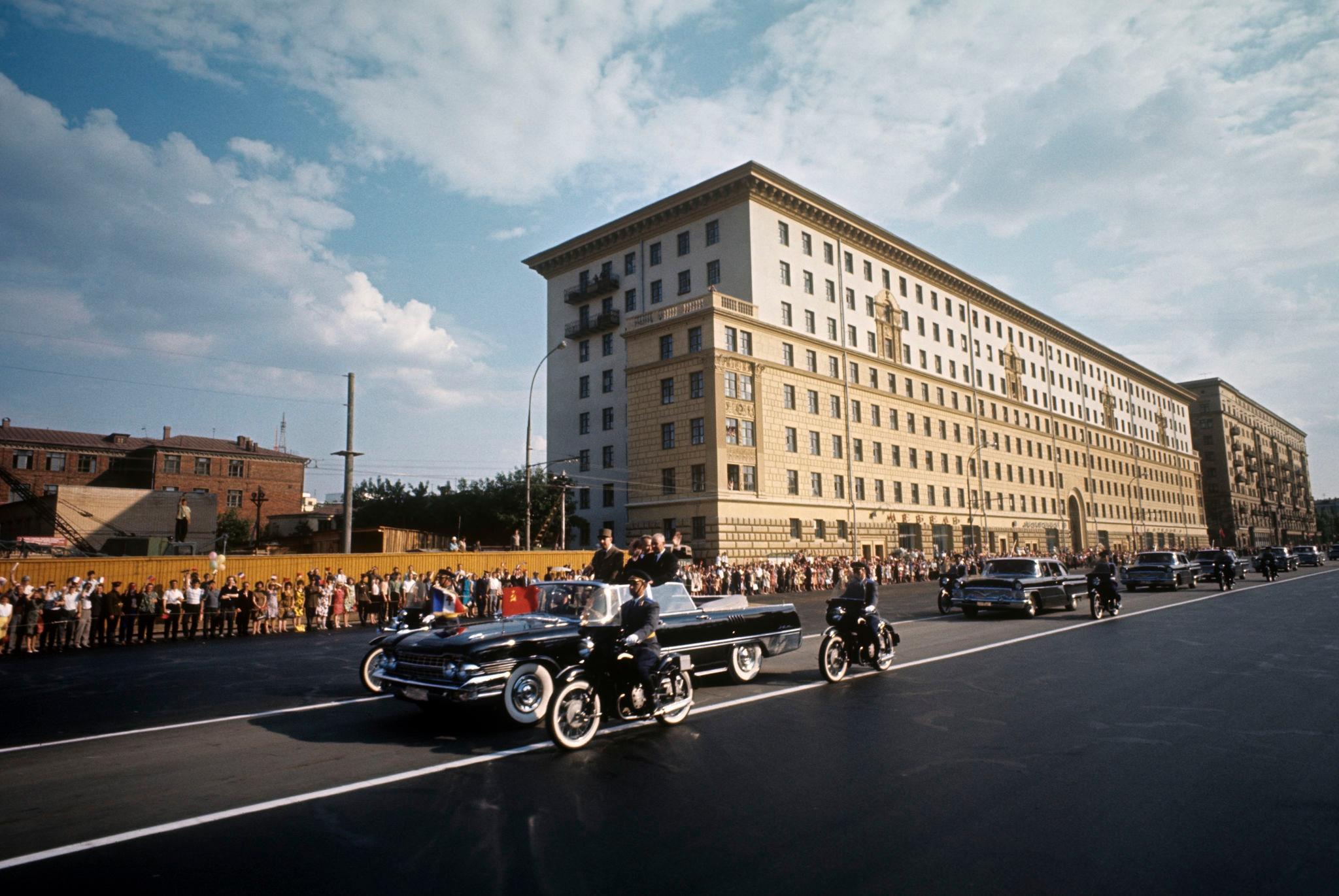Шарль де Голль в Москве. Ленинский проспект
