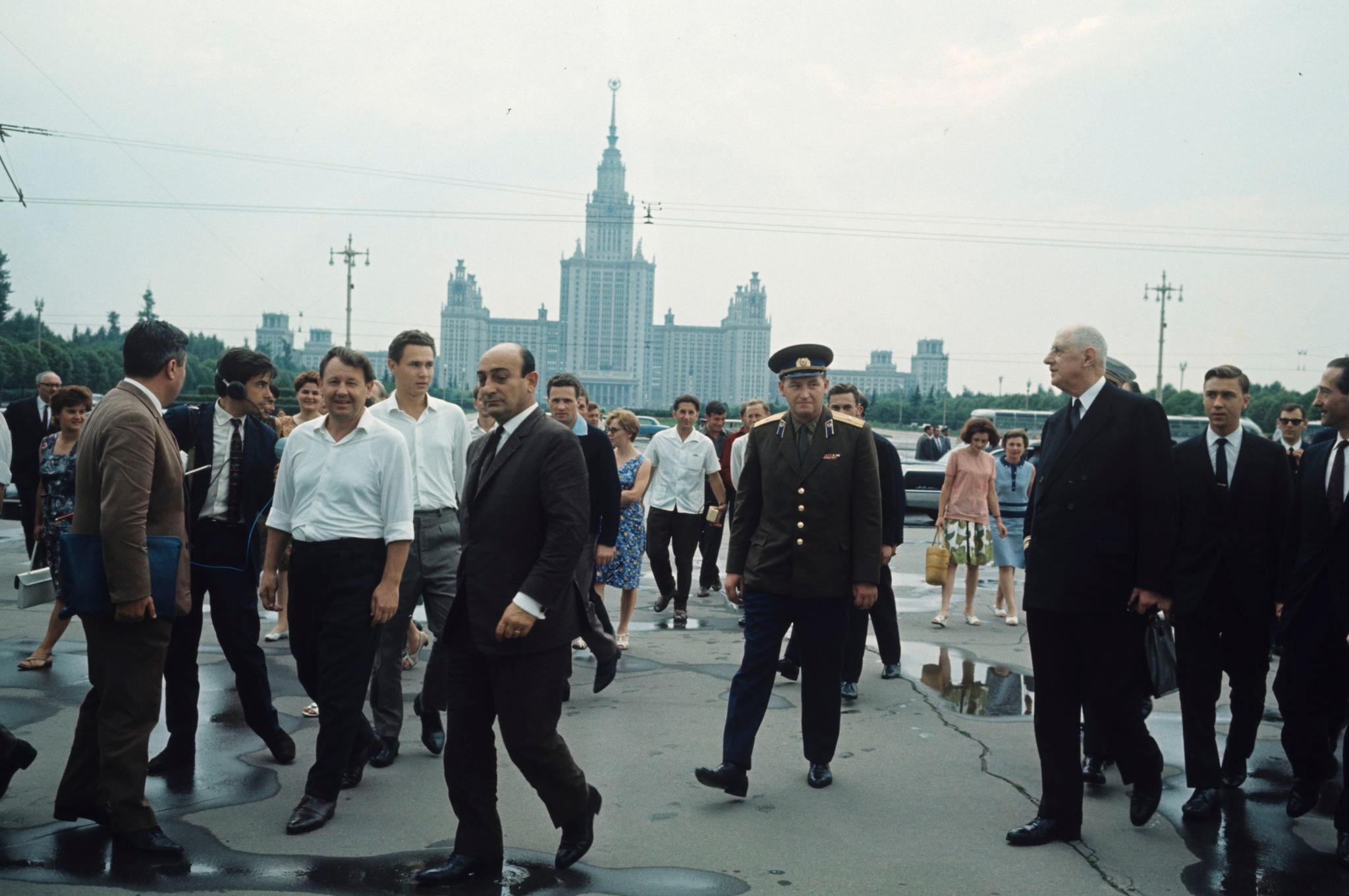 Шарль де Голль на Ленинских горах