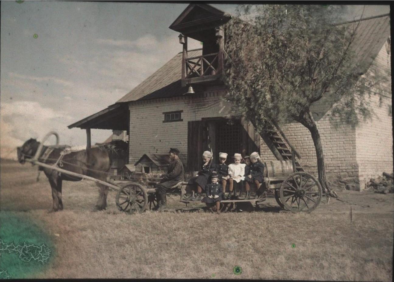 1910. Дети Козаковы. Имение Никольское Симбирской губернии