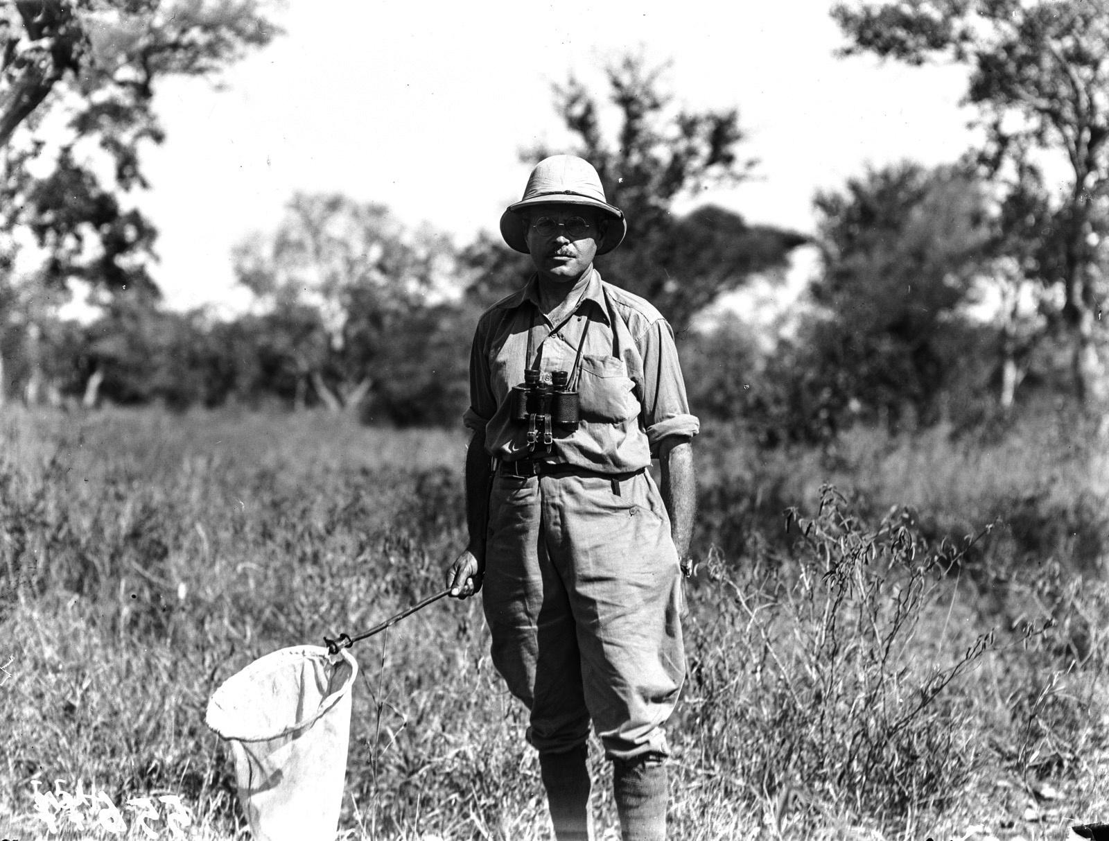 Национальный парк Крюгера. Д-р Хаас с сачком