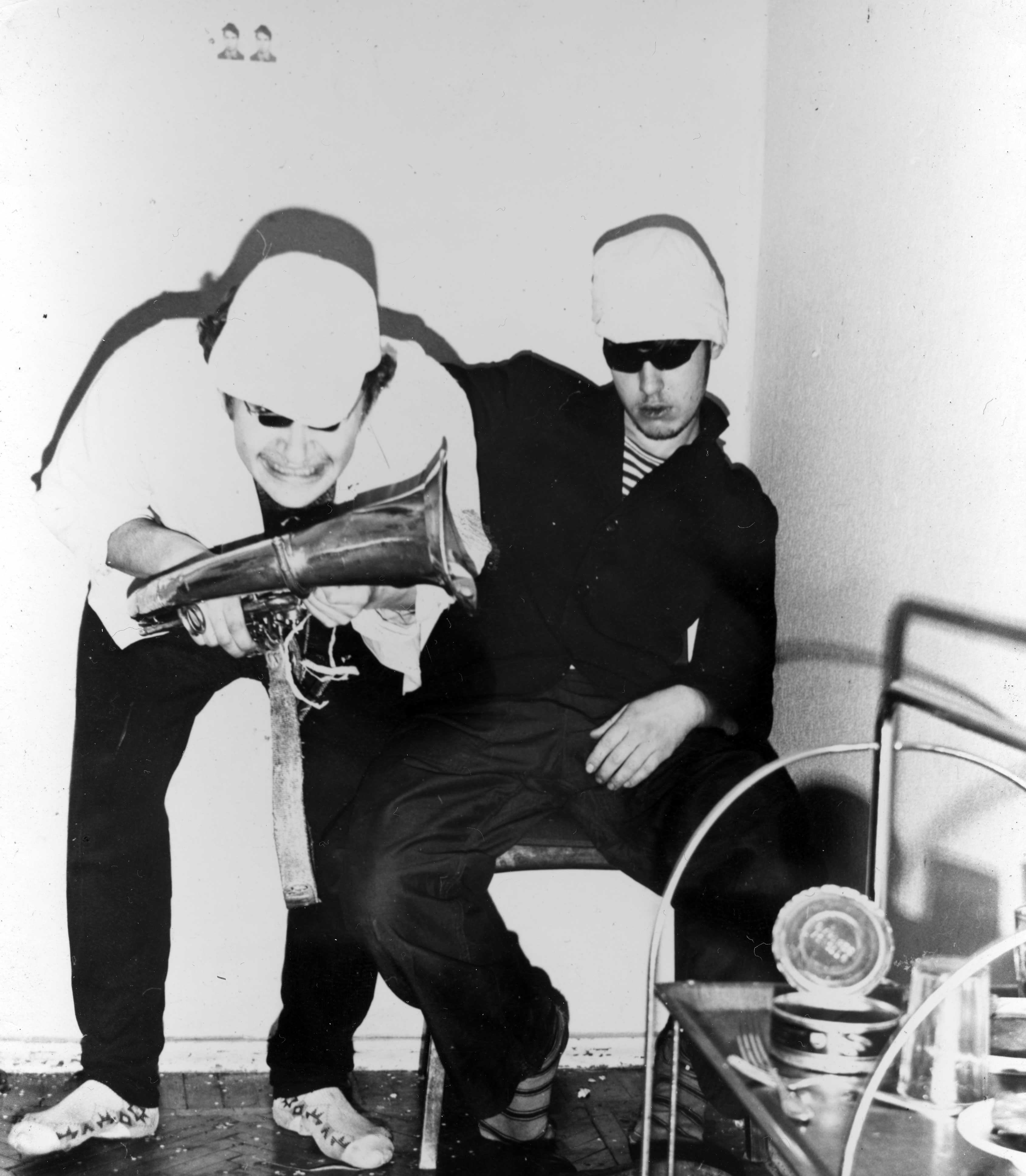 Свин и тусовка (Юфит, Цой и др.), конец 70-х, начало 80-х (6)