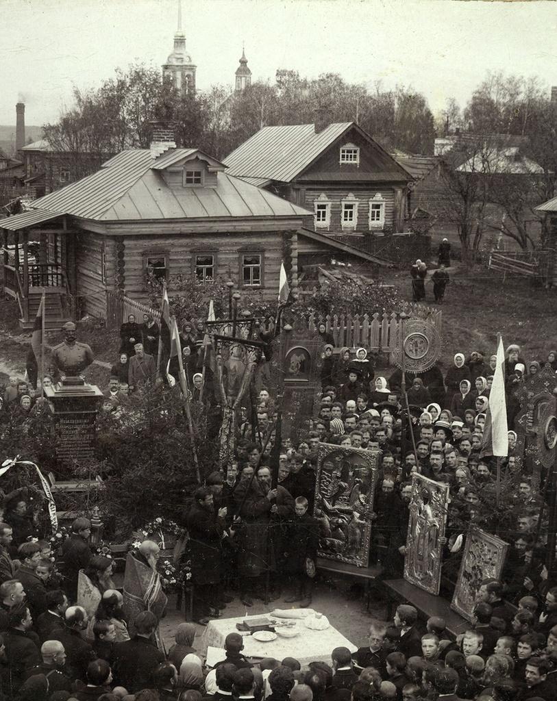 Окрестности Кинешмы. Наволоки. Открытие памятнику императору Александру II в праздник Вознесения Господня, 27 сентября 1911