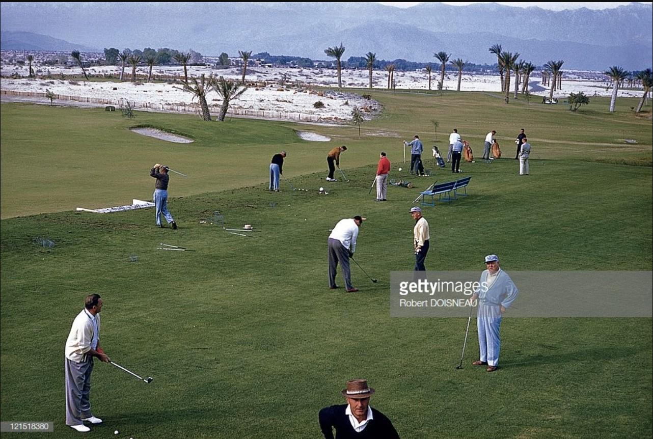 1960. Палм-спрингс. Игроки в гольф